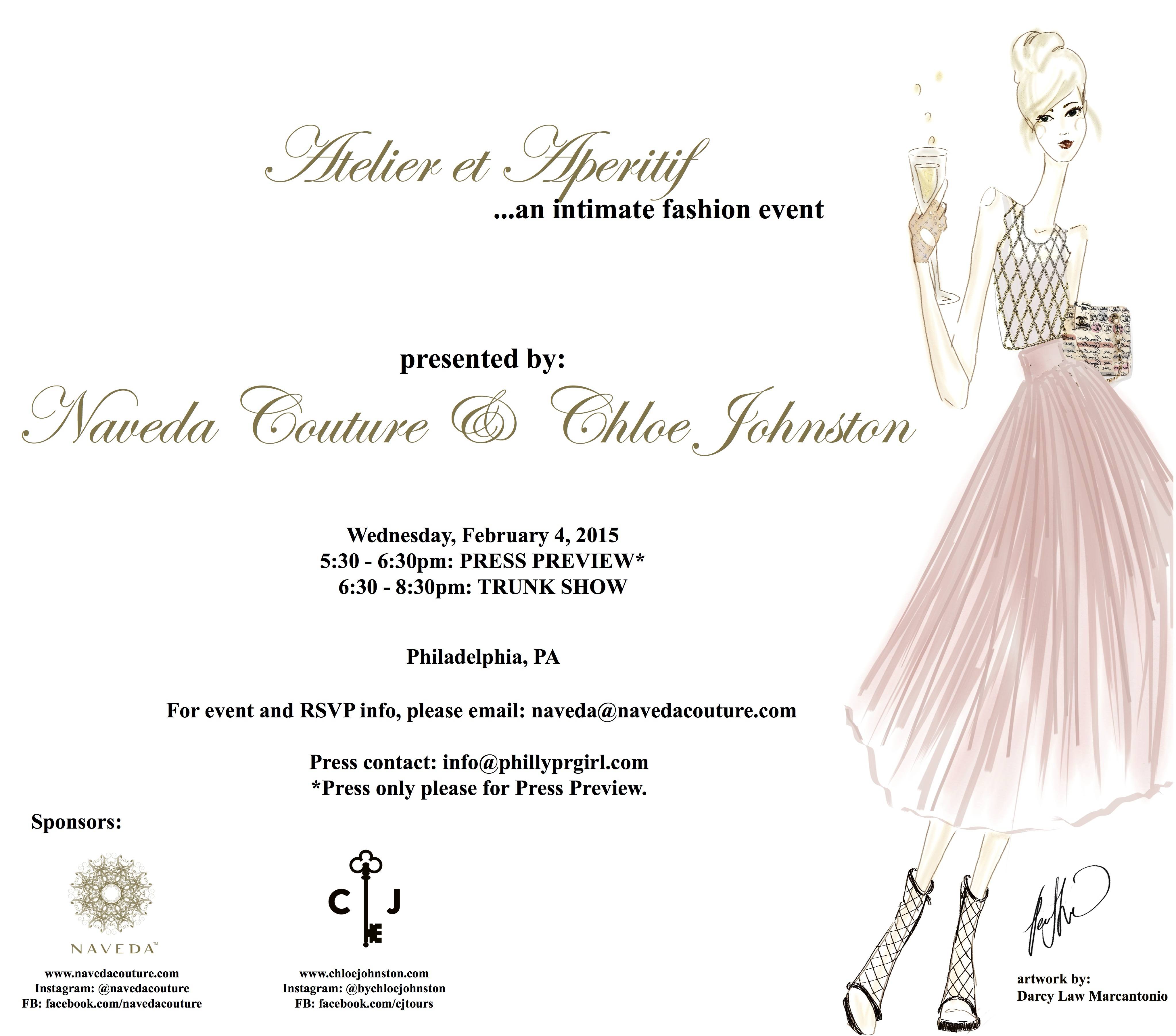 Naveda Couture Trunk Show Philly PR Girl