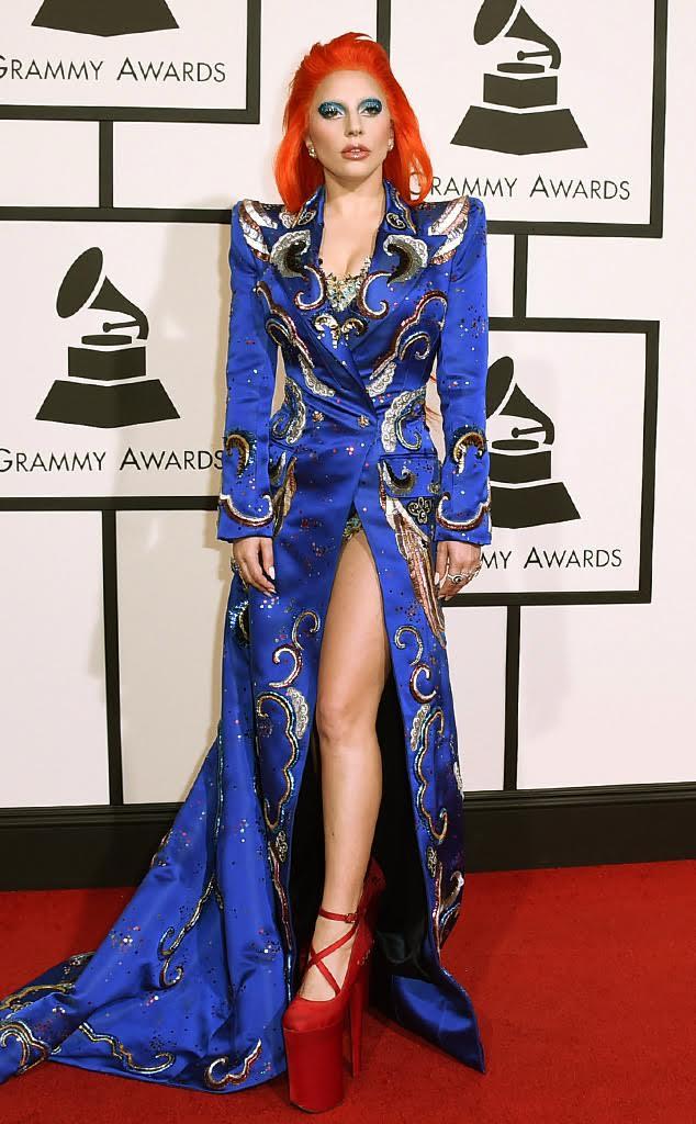 Lady GaGa red carpet Grammys 2016