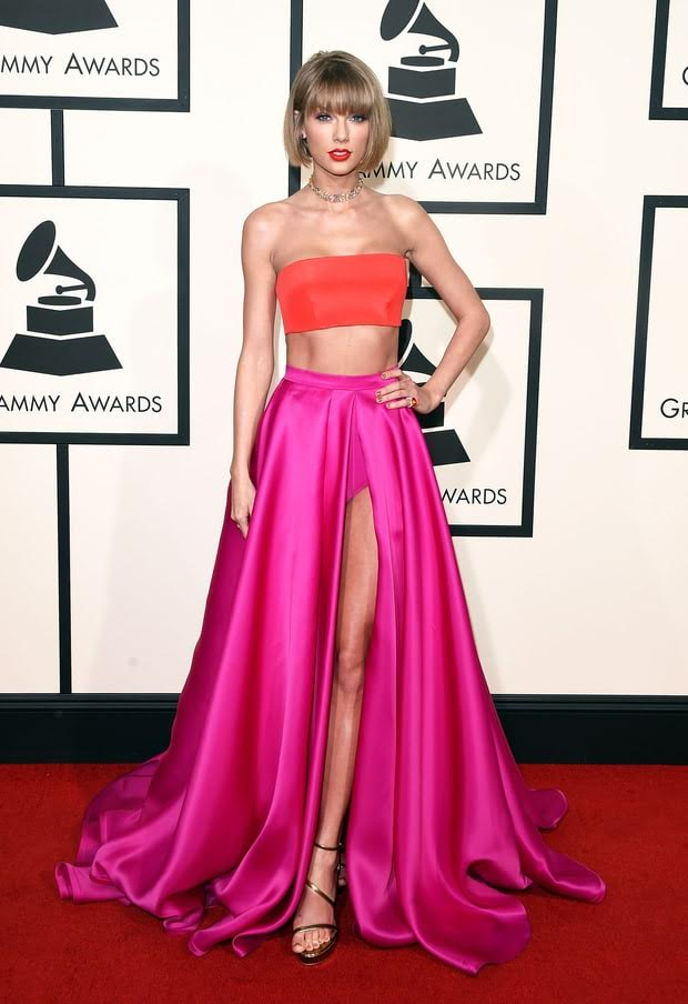Taylor Swift Grammys red carpet 2016